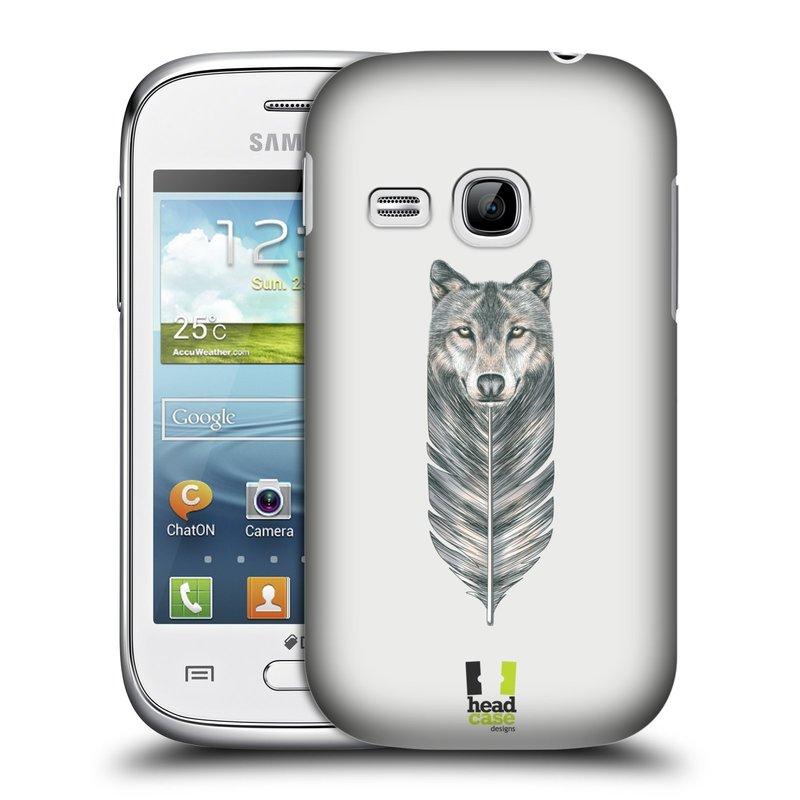 Plastové pouzdro na mobil Samsung Galaxy Young HEAD CASE PÍRKO VLK (Kryt či obal na mobilní telefon Samsung Galaxy Young GT-S6310)