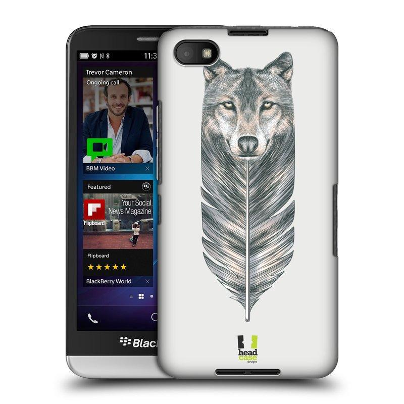 Plastové pouzdro na mobil Blackberry Z30 HEAD CASE PÍRKO VLK (Kryt či obal na mobilní telefon Blackberry Z30)