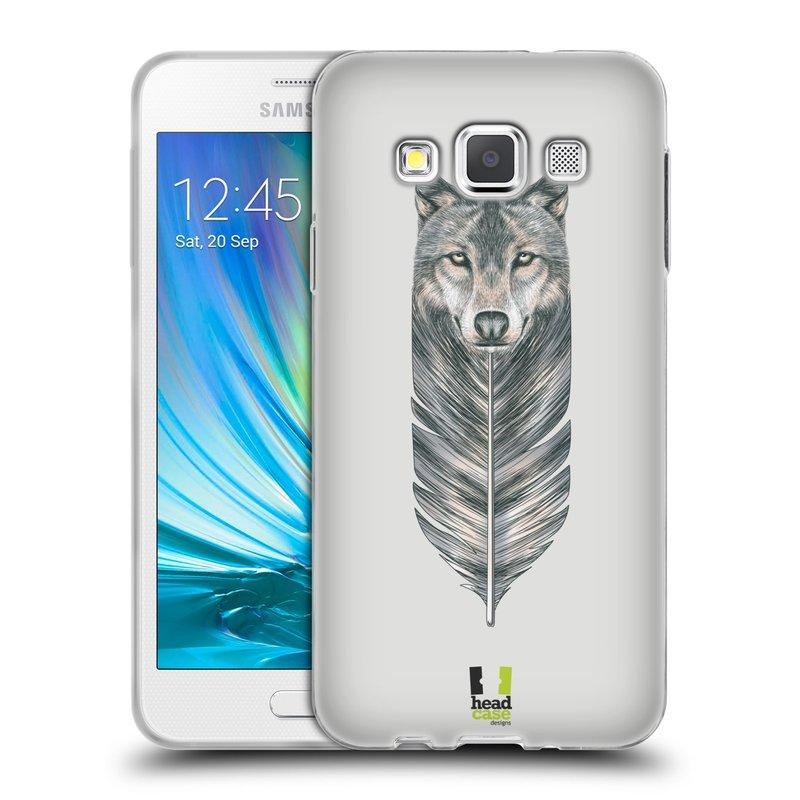 Silikonové pouzdro na mobil Samsung Galaxy A3 HEAD CASE PÍRKO VLK (Silikonový kryt či obal na mobilní telefon Samsung Galaxy A3 SM-A300)