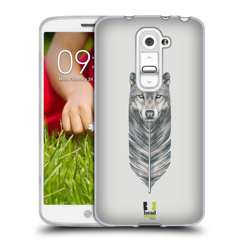 Silikonové pouzdro na mobil LG G2 Mini HEAD CASE PÍRKO VLK (Silikonový kryt či obal na mobilní telefon LG G2 Mini D620)