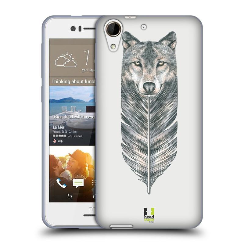 Silikonové pouzdro na mobil HTC Desire 728G Dual SIM HEAD CASE PÍRKO VLK (Silikonový kryt či obal na mobilní telefon HTC Desire 728 G Dual SIM)