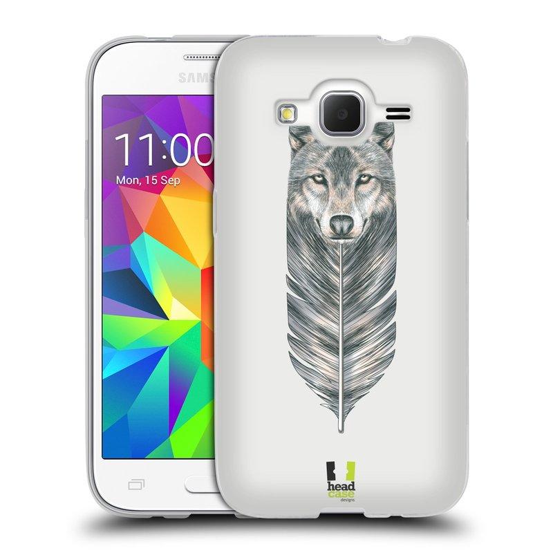 Silikonové pouzdro na mobil Samsung Galaxy Core Prime LTE HEAD CASE PÍRKO VLK (Silikonový kryt či obal na mobilní telefon Samsung Galaxy Core Prime LTE SM-G360)