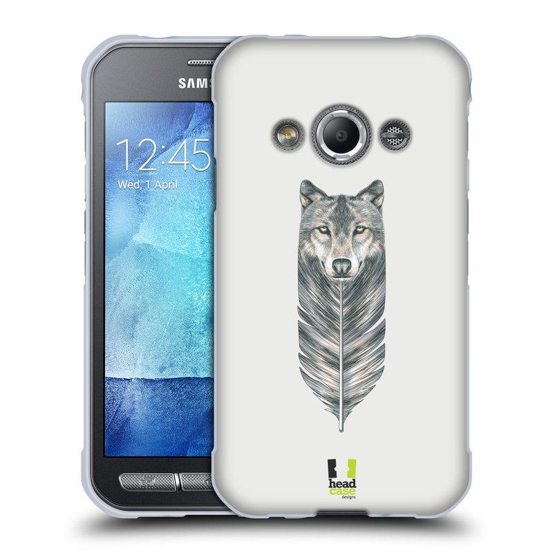 Silikonové pouzdro na mobil Samsung Galaxy Xcover 3 HEAD CASE PÍRKO VLK (Silikonový kryt či obal na mobilní telefon Samsung Galaxy Xcover 3 SM-G388F)