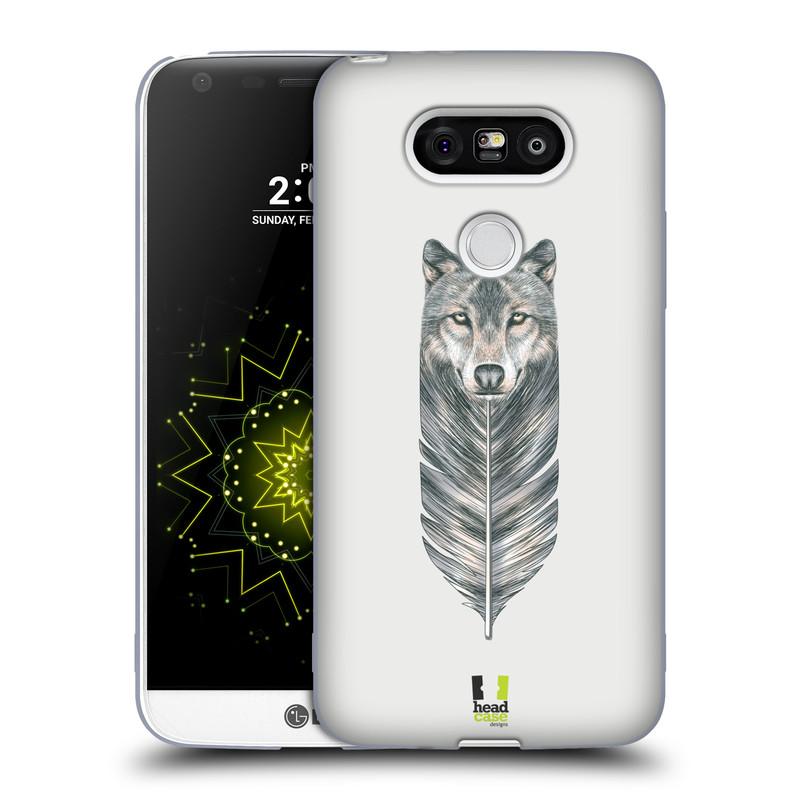 Silikonové pouzdro na mobil LG G5 HEAD CASE PÍRKO VLK (Silikonový kryt či obal na mobilní telefon LG G5 H850)