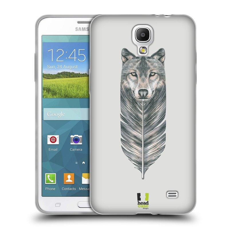 Silikonové pouzdro na mobil Samsung Galaxy Grand Mega 2 HEAD CASE PÍRKO VLK (Silikonový kryt či obal na mobilní telefon Samsung Galaxy Grand Mega 2 SM-G750)
