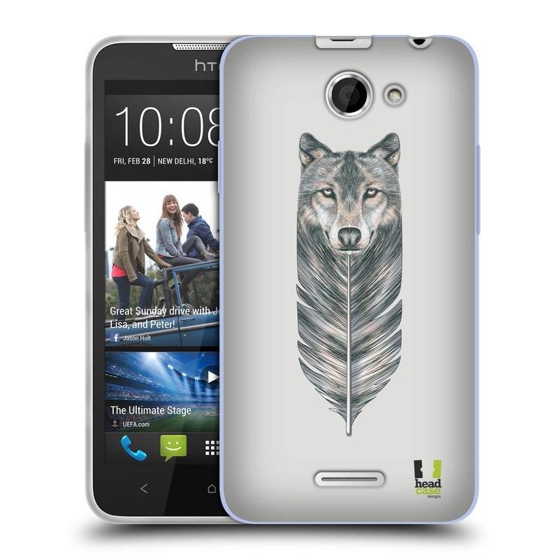 Silikonové pouzdro na mobil HTC Desire 516 HEAD CASE PÍRKO VLK (Silikonový kryt či obal na mobilní telefon HTC Desire 516 Dual SIM)
