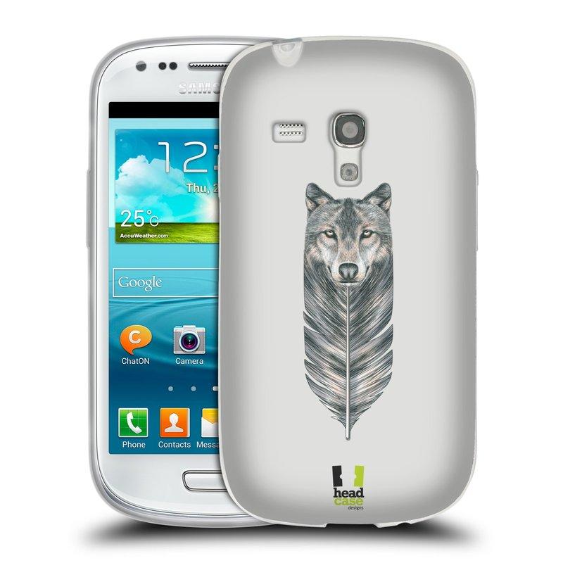 Silikonové pouzdro na mobil Samsung Galaxy S III Mini HEAD CASE PÍRKO VLK (Silikonový kryt či obal na mobilní telefon Samsung Galaxy S III Mini GT-i8190)