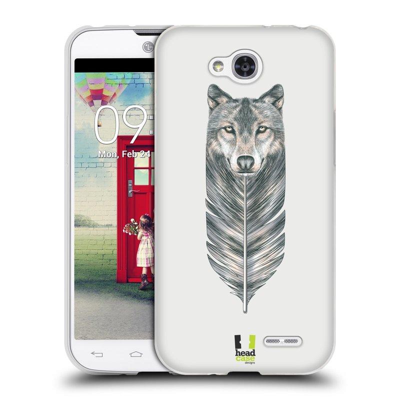 Silikonové pouzdro na mobil LG L90 HEAD CASE PÍRKO VLK (Silikonový kryt či obal na mobilní telefon LG L90 D405n)