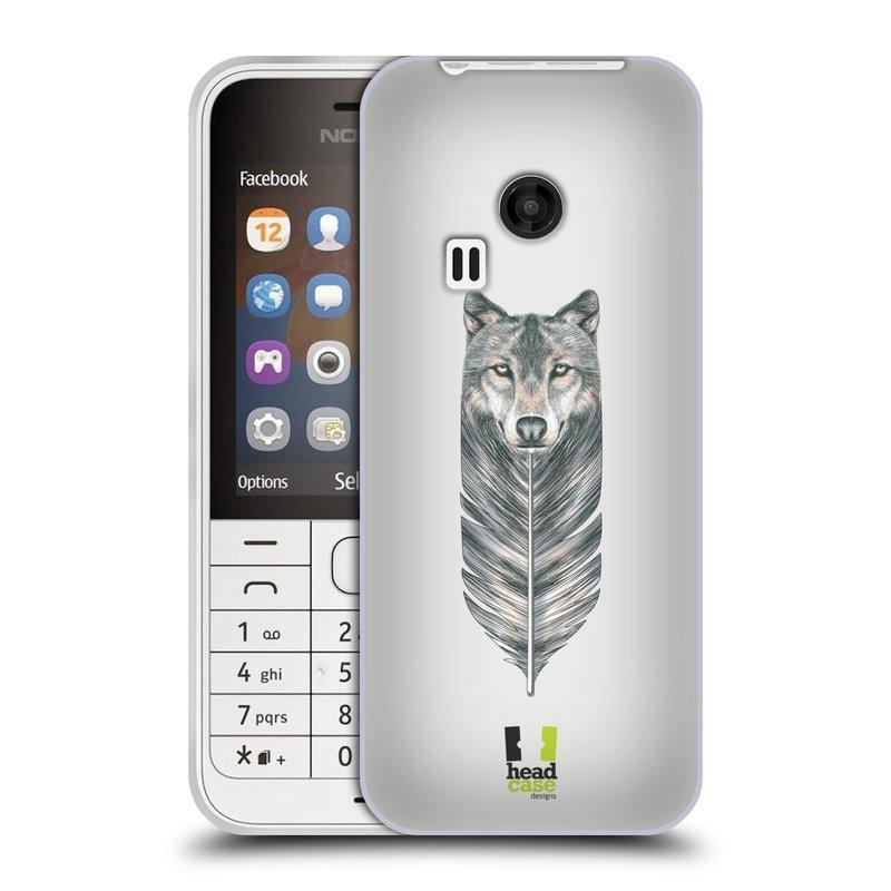 Silikonové pouzdro na mobil Nokia 220 HEAD CASE PÍRKO VLK (Silikonový kryt či obal na mobilní telefon Nokia 220 a 220 Dual SIM)