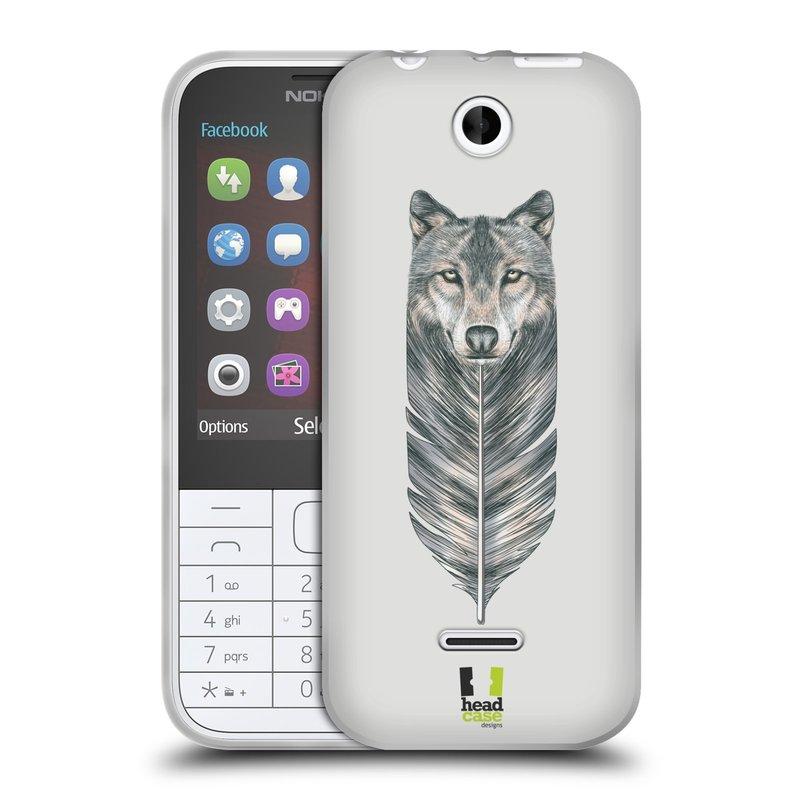 Silikonové pouzdro na mobil Nokia 225 HEAD CASE PÍRKO VLK (Silikonový kryt či obal na mobilní telefon Nokia 225)