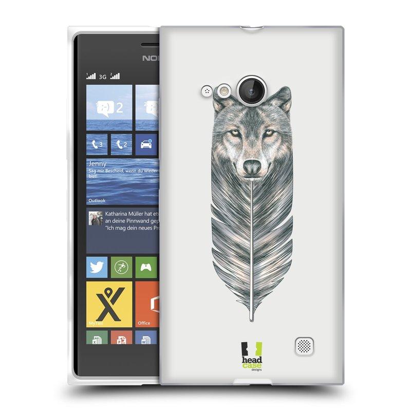 Silikonové pouzdro na mobil Nokia Lumia 730 Dual SIM HEAD CASE PÍRKO VLK (Silikonový kryt či obal na mobilní telefon Nokia Lumia 730 Dual SIM)