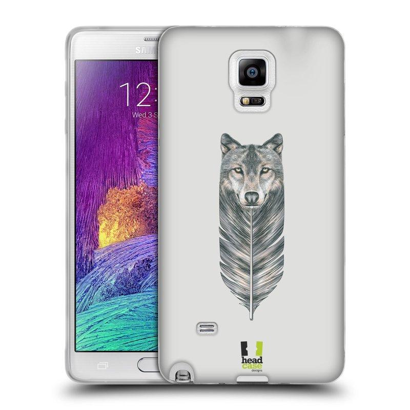 Silikonové pouzdro na mobil Samsung Galaxy Note 4 HEAD CASE PÍRKO VLK (Silikonový kryt či obal na mobilní telefon Samsung Galaxy Note 4 SM-N910F)