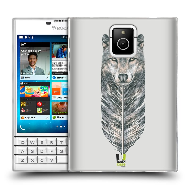 Silikonové pouzdro na mobil Blackberry PASSPORT HEAD CASE PÍRKO VLK (Silikonový kryt či obal na mobilní telefon Blackberry PASSPORT)