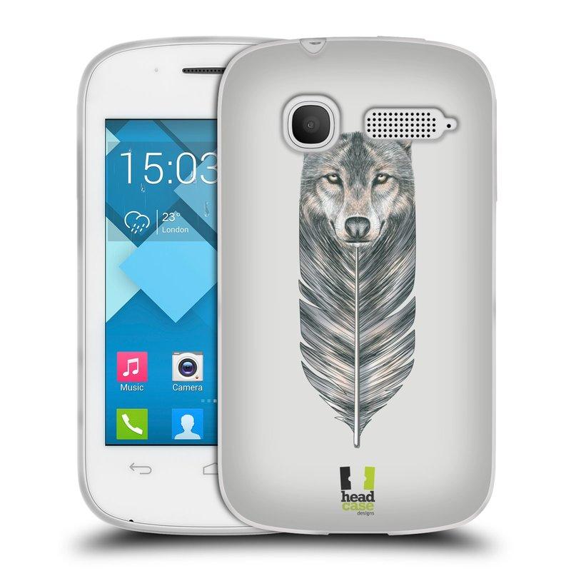 Silikonové pouzdro na mobil Alcatel One Touch Pop C1 HEAD CASE PÍRKO VLK (Silikonový kryt či obal na mobilní telefon Alcatel OT-4015D POP C1)