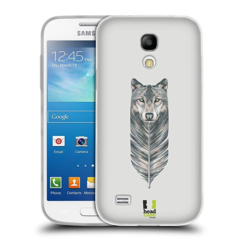 Silikonové pouzdro na mobil Samsung Galaxy S4 Mini HEAD CASE PÍRKO VLK (Silikonový kryt či obal na mobilní telefon Samsung Galaxy S4 Mini GT-i9195 / i9190 (nepasuje na verzi Black Edition))