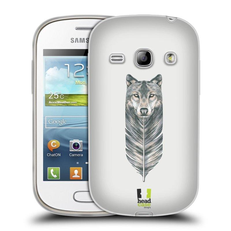 Silikonové pouzdro na mobil Samsung Galaxy Fame HEAD CASE PÍRKO VLK (Silikonový kryt či obal na mobilní telefon Samsung Galaxy Fame GT-S6810)