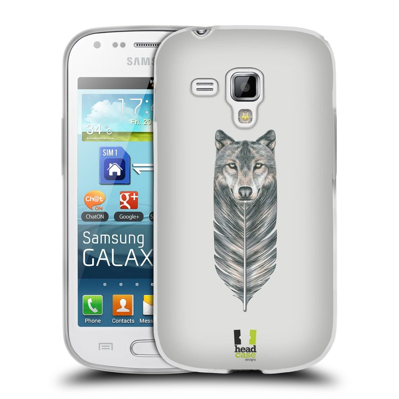 Silikonové pouzdro na mobil Samsung Galaxy S Duos HEAD CASE PÍRKO VLK (Silikonový kryt či obal na mobilní telefon Samsung Galaxy S Duos GT-S7562)