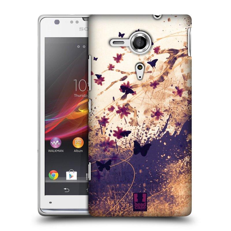 Plastové pouzdro na mobil Sony Xperia SP C5303 HEAD CASE MOTÝLCI (Kryt či obal na mobilní telefon Sony Xperia SP )