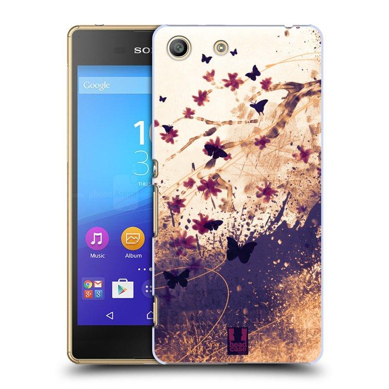 Plastové pouzdro na mobil Sony Xperia M5 HEAD CASE MOTÝLCI (Kryt či obal na mobilní telefon Sony Xperia M5 Aqua)