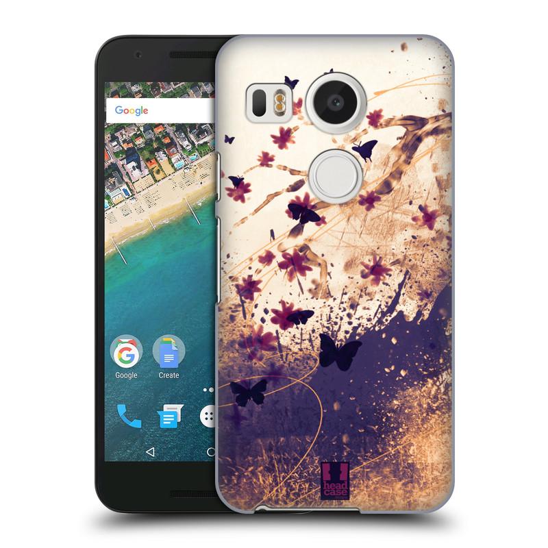 Plastové pouzdro na mobil LG Nexus 5X HEAD CASE MOTÝLCI (Kryt či obal na mobilní telefon LG NEXUS 5X H791)