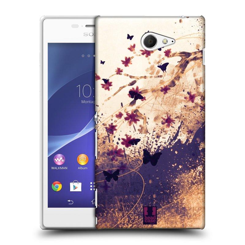 Plastové pouzdro na mobil Sony Xperia M2 D2303 HEAD CASE MOTÝLCI (Kryt či obal na mobilní telefon Sony Xperia M2 )