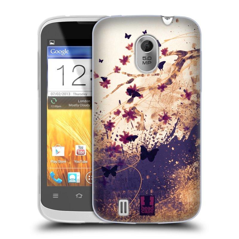 Silikonové pouzdro na mobil ZTE Blade III HEAD CASE MOTÝLCI (Silikonový kryt či obal na mobilní telefon ZTE Blade 3)