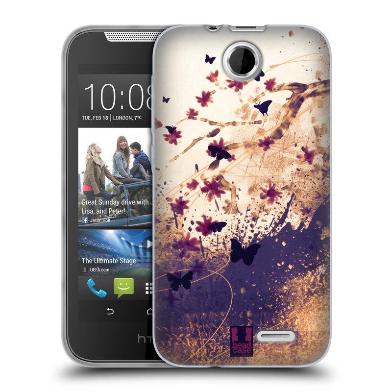 Silikonové pouzdro na mobil HTC Desire 310 HEAD CASE MOTÝLCI (Silikonový kryt či obal na mobilní telefon HTC Desire 310)