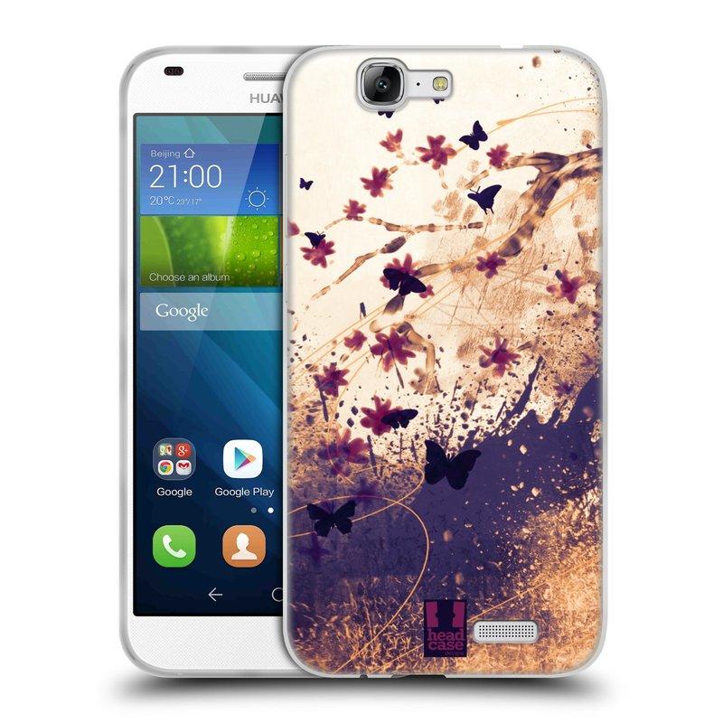 Silikonové pouzdro na mobil Huawei Ascend G7 HEAD CASE MOTÝLCI (Silikonový kryt či obal na mobilní telefon Huawei Ascend G7)
