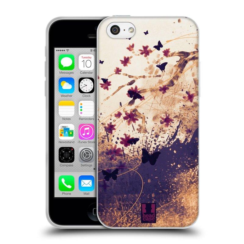 Silikonové pouzdro na mobil Apple iPhone 5C HEAD CASE MOTÝLCI (Silikonový kryt či obal na mobilní telefon Apple iPhone 5C)