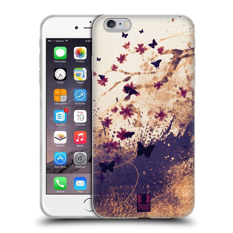 Silikonové pouzdro na mobil Apple iPhone 6 Plus a 6S Plus HEAD CASE MOTÝLCI (Silikonový kryt či obal na mobilní telefon Apple iPhone 6 Plus a 6S Plus)