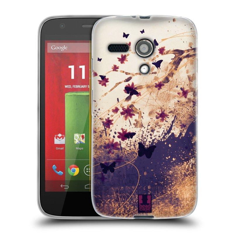 Silikonové pouzdro na mobil Motorola Moto G HEAD CASE MOTÝLCI (Silikonový kryt či obal na mobilní telefon Motorola Moto G)