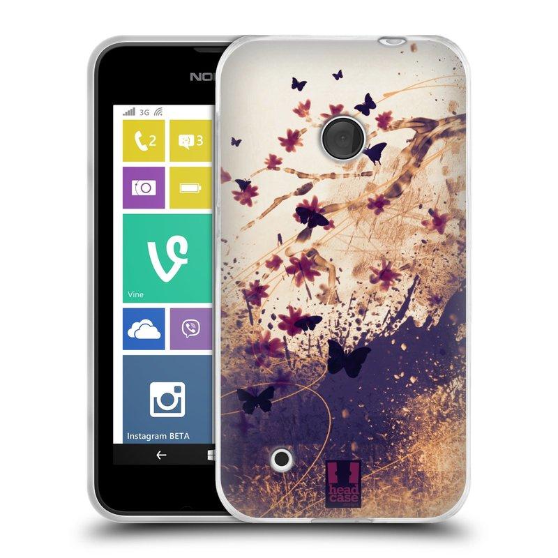 Silikonové pouzdro na mobil Nokia Lumia 530 HEAD CASE MOTÝLCI (Silikonový kryt či obal na mobilní telefon Nokia Lumia 530)