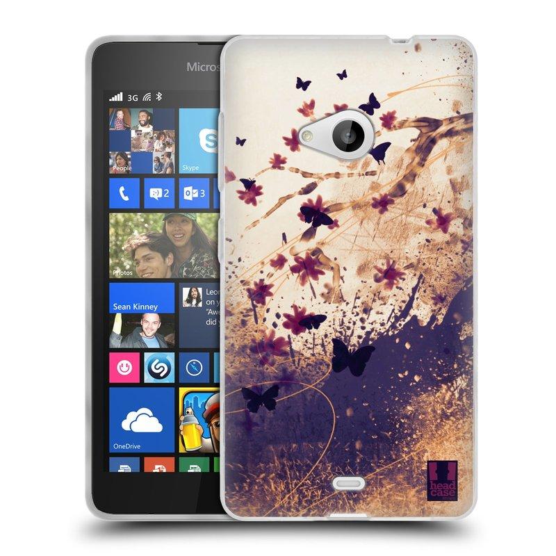 Silikonové pouzdro na mobil Microsoft Lumia 535 HEAD CASE MOTÝLCI (Silikonový kryt či obal na mobilní telefon Microsoft Lumia 535)