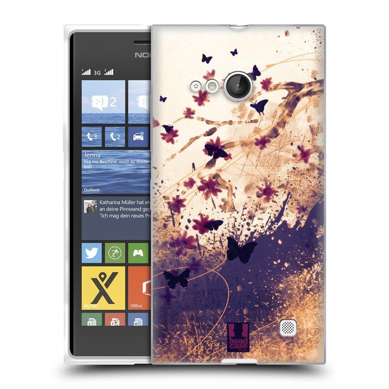 Silikonové pouzdro na mobil Nokia Lumia 735 HEAD CASE MOTÝLCI (Silikonový kryt či obal na mobilní telefon Nokia Lumia 735)