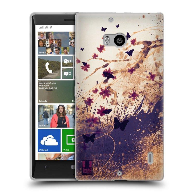 Silikonové pouzdro na mobil Nokia Lumia 930 HEAD CASE MOTÝLCI (Silikonový kryt či obal na mobilní telefon Nokia Lumia 930)