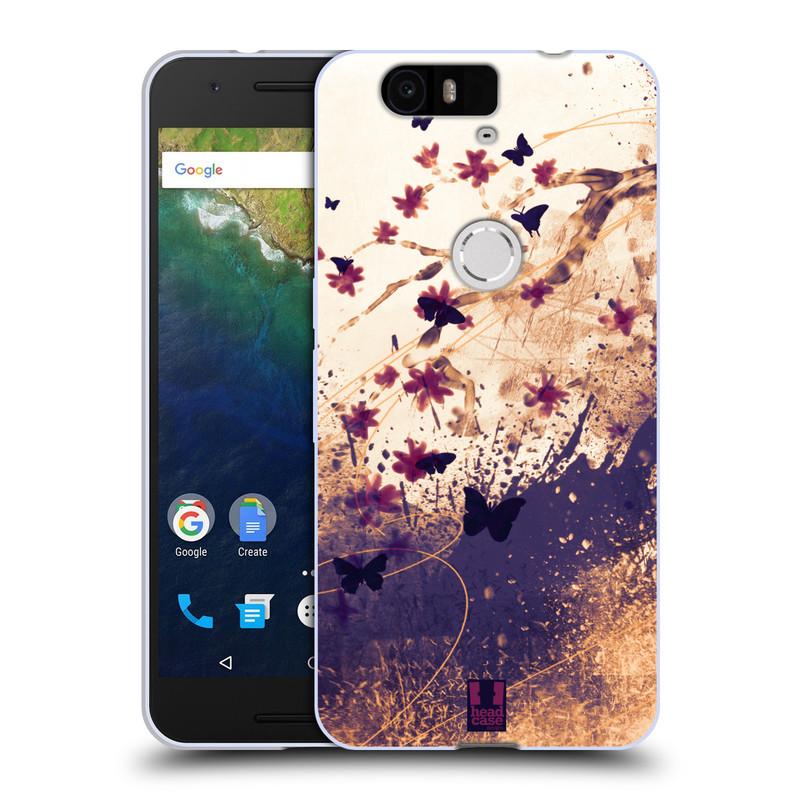 Silikonové pouzdro na mobil Huawei Nexus 6P HEAD CASE MOTÝLCI (Silikonový kryt či obal na mobilní telefon Huawei Nexus 6P)
