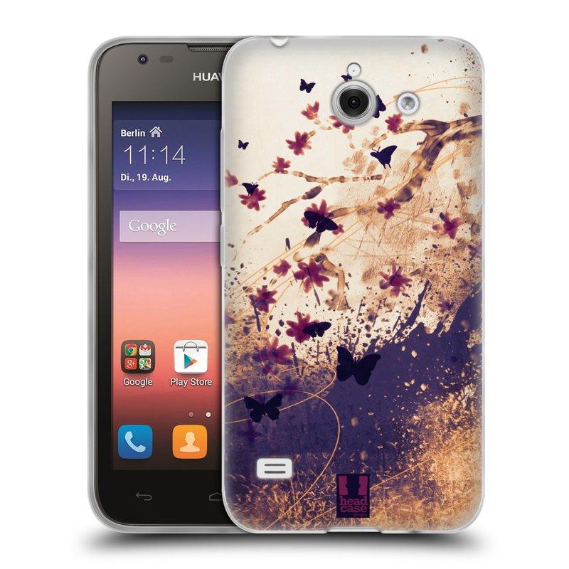 Silikonové pouzdro na mobil Huawei Ascend Y550 HEAD CASE MOTÝLCI (Silikonový kryt či obal na mobilní telefon Huawei Ascend Y550)