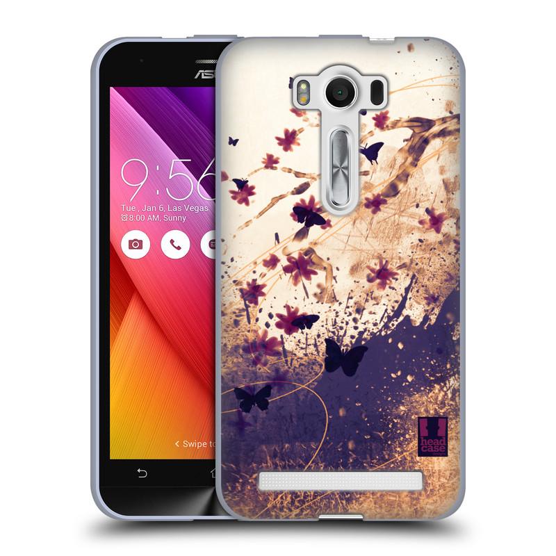 """Silikonové pouzdro na mobil Asus ZenFone 2 Laser ZE500KL HEAD CASE MOTÝLCI (Silikonový kryt či obal na mobilní telefon Asus ZenFone 2 Laser ZE500KL s 5"""" displejem)"""