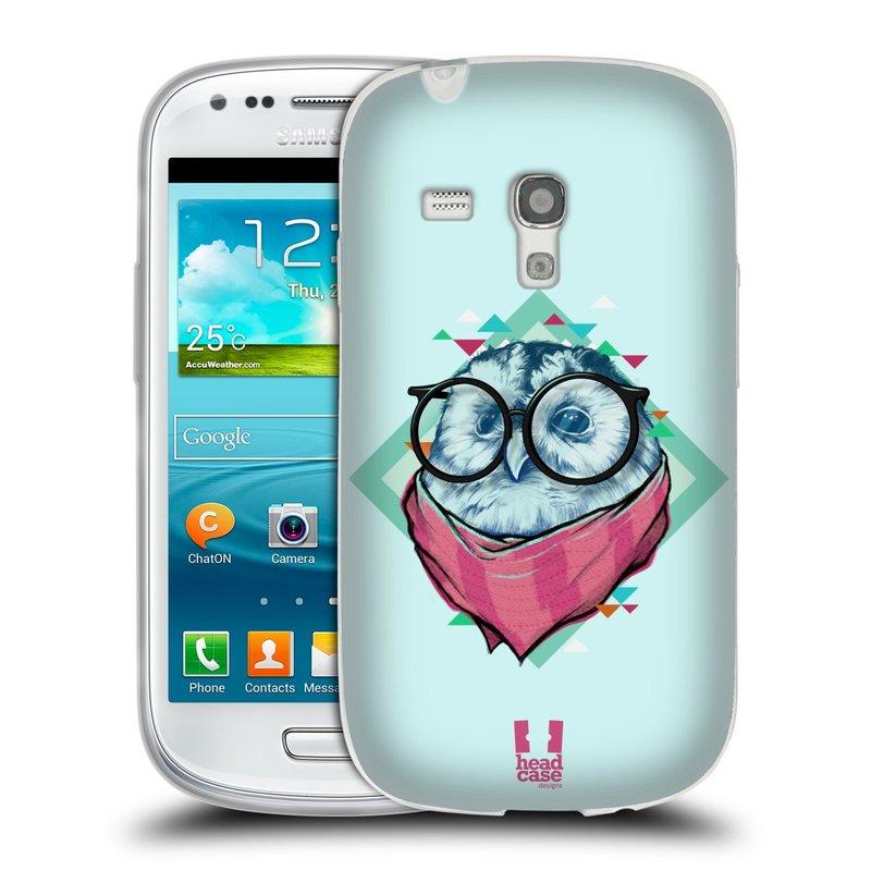 Silikonové pouzdro na mobil Samsung Galaxy S3 Mini VE HEAD CASE HIPSTR SOVA (Silikonový kryt či obal na mobilní telefon Samsung Galaxy S3 Mini VE GT-i8200)