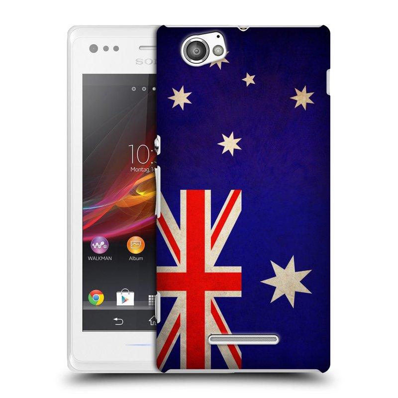 Plastové pouzdro na mobil Sony Xperia M C1905 HEAD CASE VLAJKA AUSTRÁLIE (Kryt či obal na mobilní telefon Sony Xperia M )