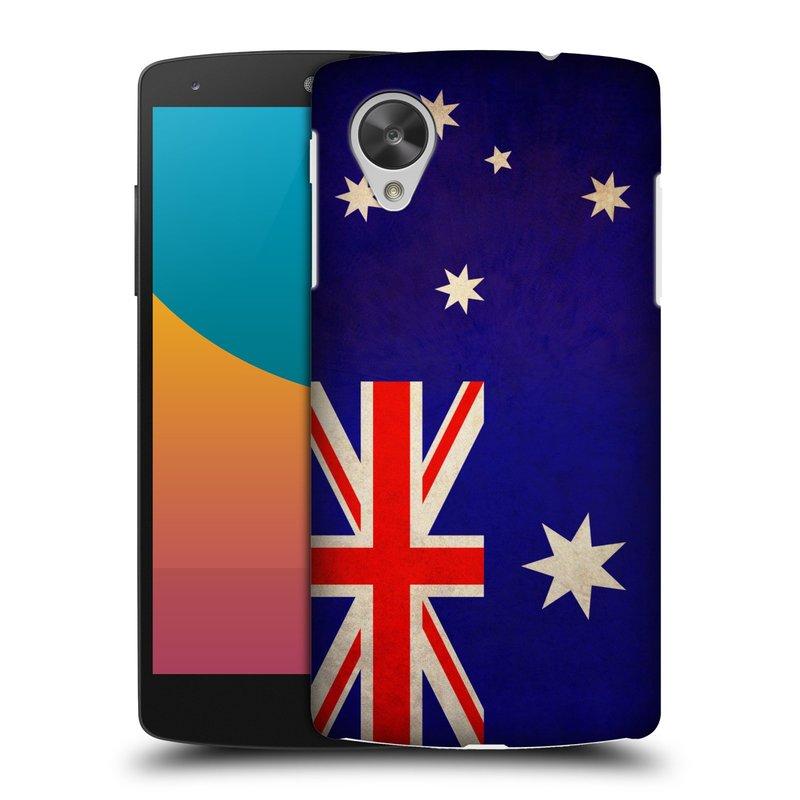 Plastové pouzdro na mobil LG Nexus 5 HEAD CASE VLAJKA AUSTRÁLIE (Kryt či obal na mobilní telefon LG Google Nexus 5 D821)