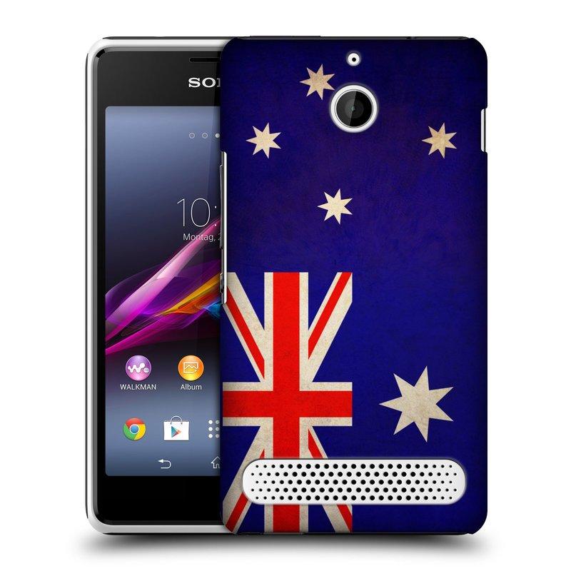 Plastové pouzdro na mobil Sony Xperia E1 D2005 HEAD CASE VLAJKA AUSTRÁLIE (Kryt či obal na mobilní telefon Sony Xperia E1 a E1 Dual)