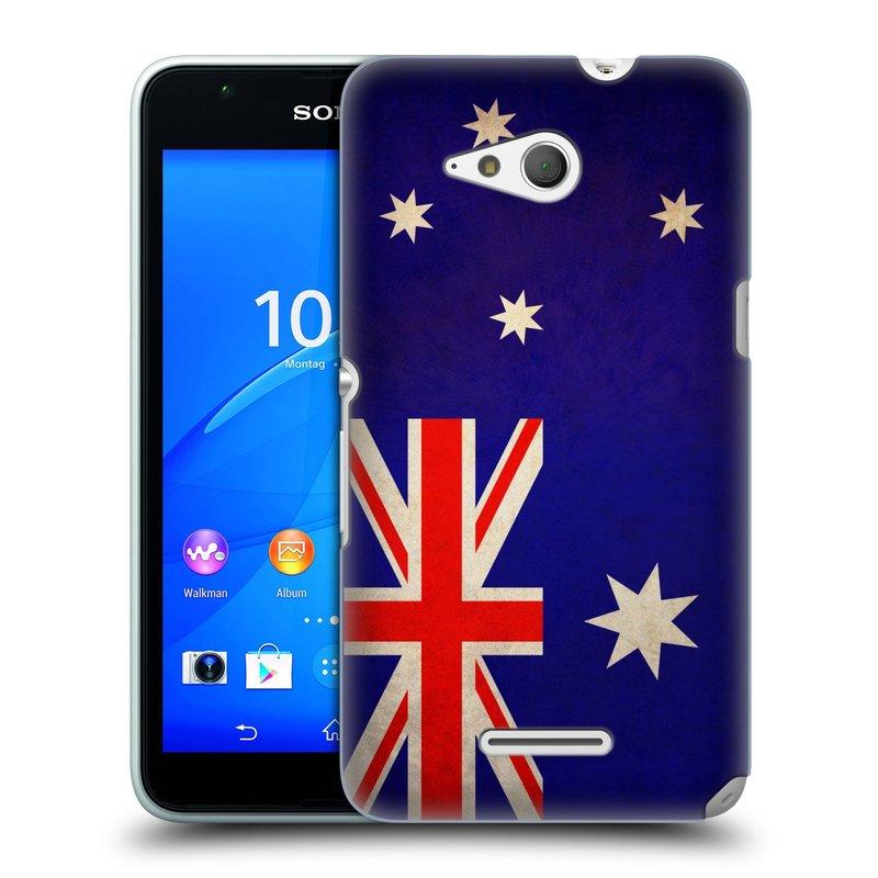 Plastové pouzdro na mobil Sony Xperia E4g E2003 HEAD CASE VLAJKA AUSTRÁLIE (Kryt či obal na mobilní telefon Sony Xperia E4g a E4g Dual SIM)