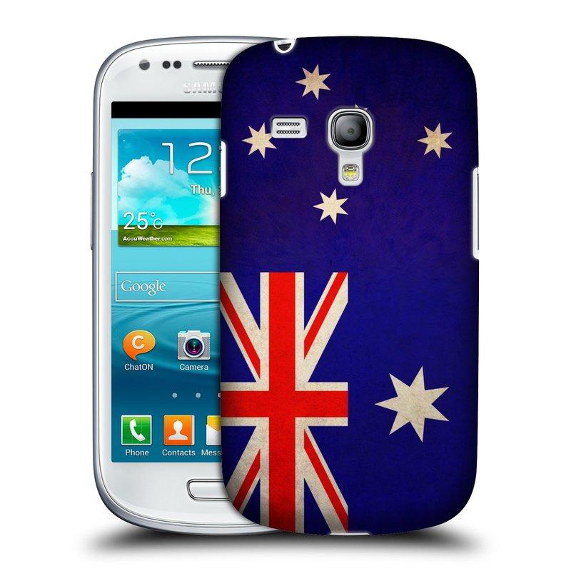 Plastové pouzdro na mobil Samsung Galaxy S III Mini HEAD CASE VLAJKA AUSTRÁLIE (Kryt či obal na mobilní telefon Samsung Galaxy S III Mini GT-i8190)