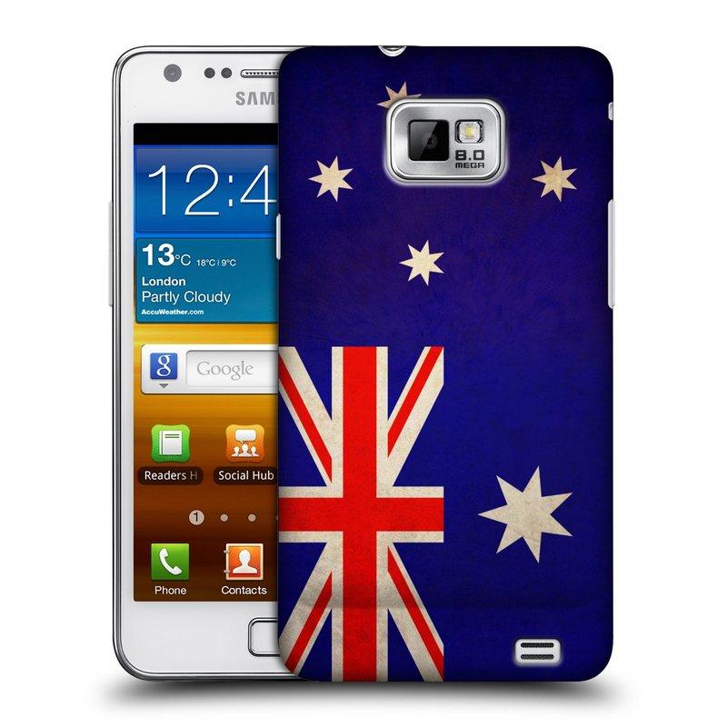 Plastové pouzdro na mobil Samsung Galaxy S II HEAD CASE VLAJKA AUSTRÁLIE (Kryt či obal na mobilní telefon Samsung Galaxy S II GT-i9100)