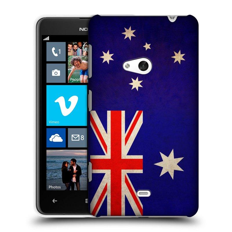 Plastové pouzdro na mobil Nokia Lumia 625 HEAD CASE VLAJKA AUSTRÁLIE (Kryt či obal na mobilní telefon Nokia Lumia 625)