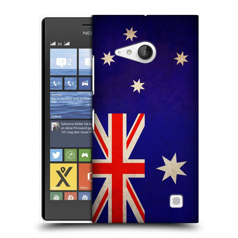 Plastové pouzdro na mobil Nokia Lumia 735 HEAD CASE VLAJKA AUSTRÁLIE (Kryt či obal na mobilní telefon Nokia Lumia 735)