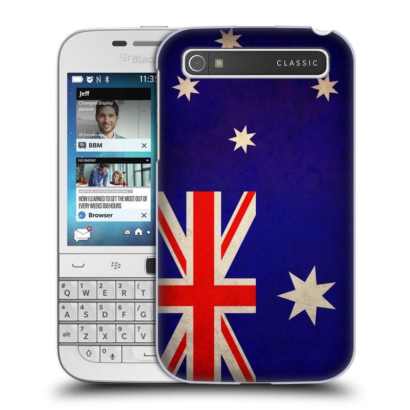 Plastové pouzdro na mobil Blackberry Classic HEAD CASE VLAJKA AUSTRÁLIE (Kryt či obal na mobilní telefon Blackberry Classic)