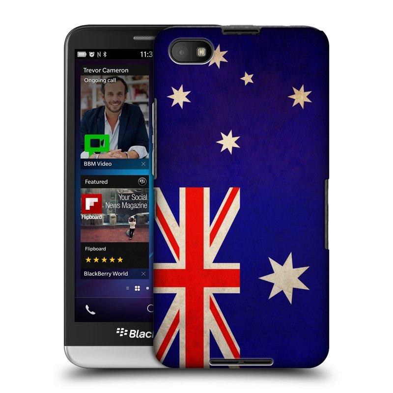 Plastové pouzdro na mobil Blackberry Z30 HEAD CASE VLAJKA AUSTRÁLIE (Kryt či obal na mobilní telefon Blackberry Z30)