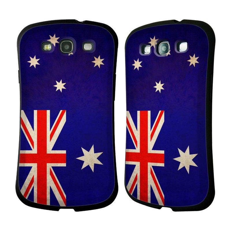 Nárazuvzdorné pouzdro na mobil Samsung Galaxy S III HEAD CASE VLAJKA AUSTRÁLIE (Odolný nárazuvzdorný silikonový kryt či obal na mobilní telefon Samsung Galaxy S III GT-i9300)